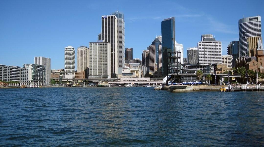 Horizonte moderno em Sydney. Visto Australiano